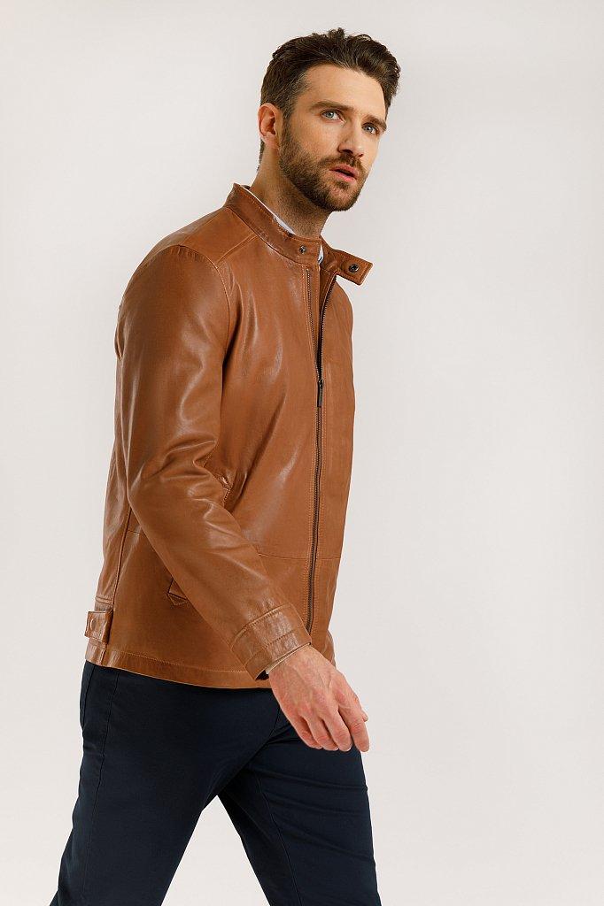 Куртка кожаная мужская, Модель B20-21800, Фото №4