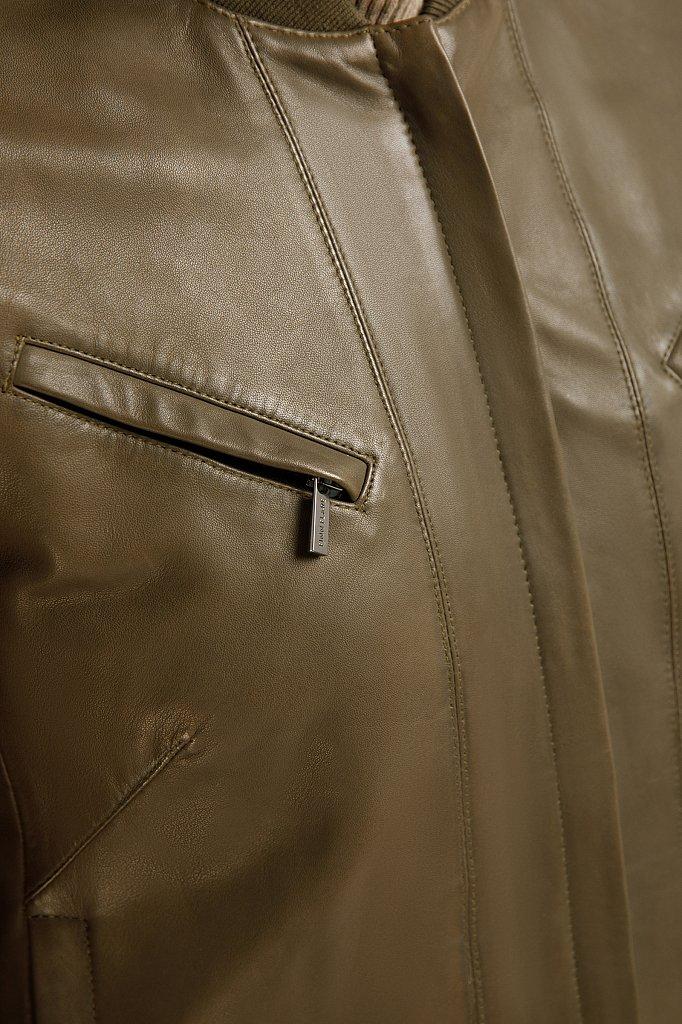 Куртка кожаная женская, Модель B20-11803, Фото №5