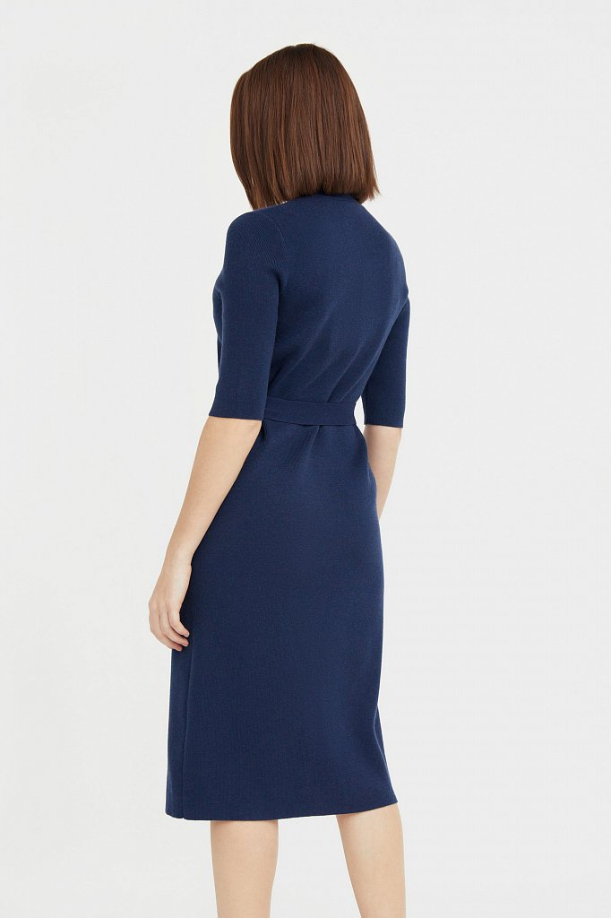 Трикотажное платье-рубашка с короткими рукавами, Модель B21-11146, Фото №4