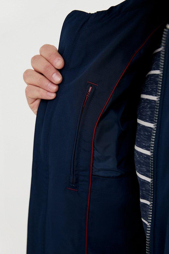 Ветровка из смесовой ткани с защитой от влаги, Модель B21-21011, Фото №4