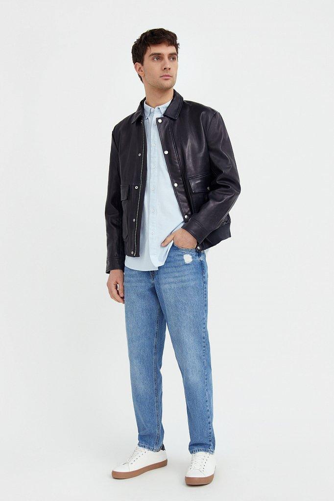 Куртка кожаная мужская, Модель B21-21801, Фото №2