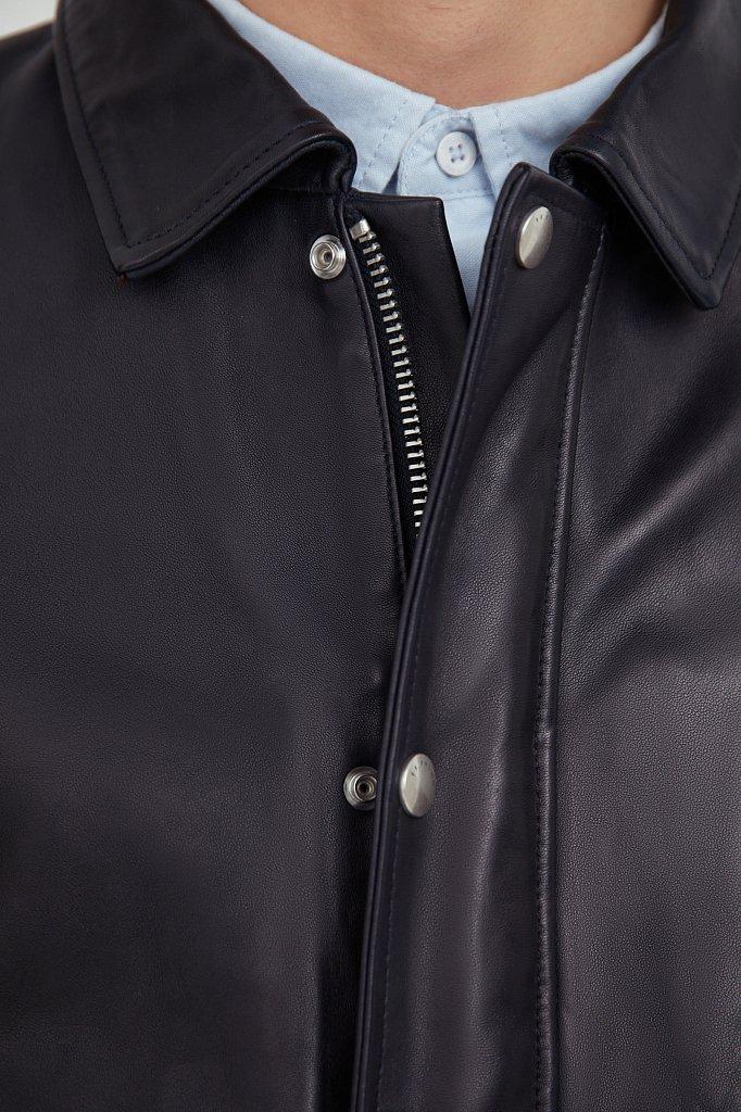 Куртка кожаная мужская, Модель B21-21801, Фото №5