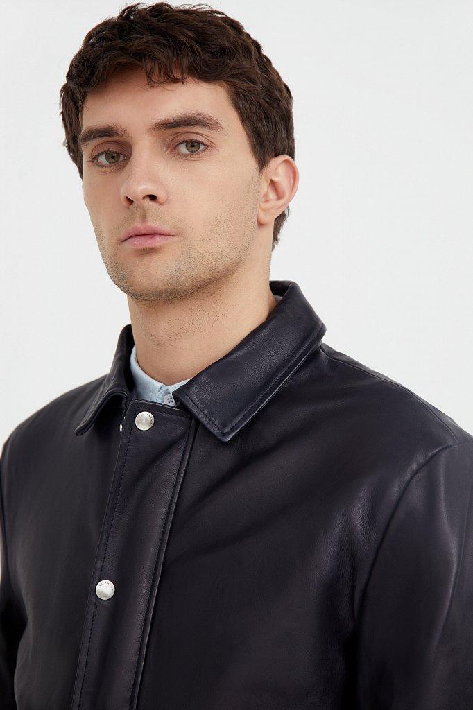 Куртка кожаная мужская, Модель B21-21801, Фото №6