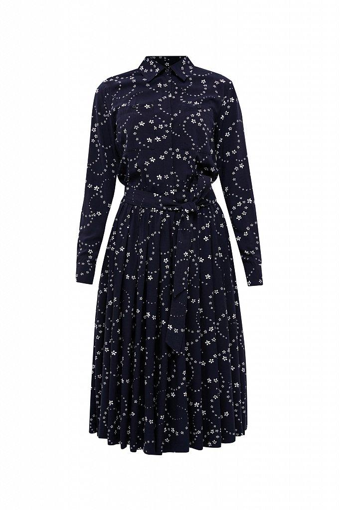 Платье-миди с цветочным принтом, Модель B21-32047, Фото №6