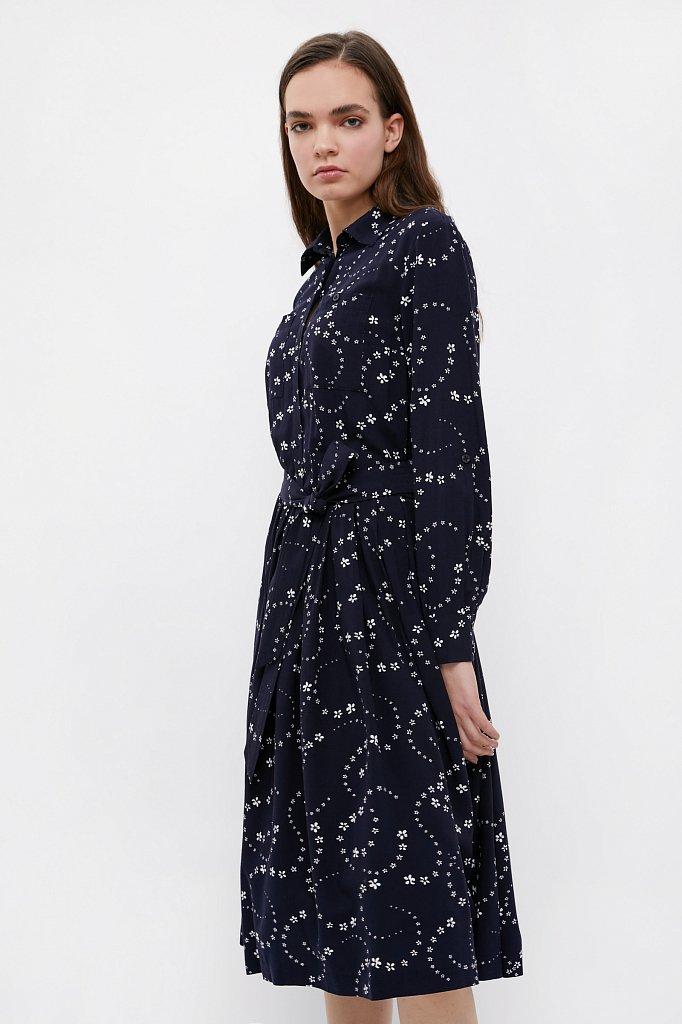 Платье-миди с цветочным принтом, Модель B21-32047, Фото №3