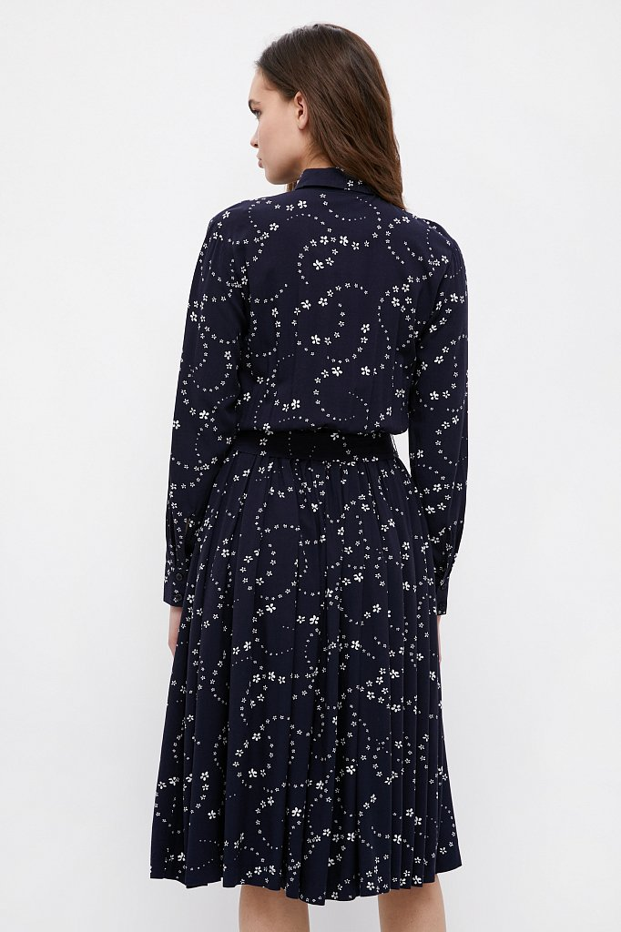 Платье-миди с цветочным принтом, Модель B21-32047, Фото №4