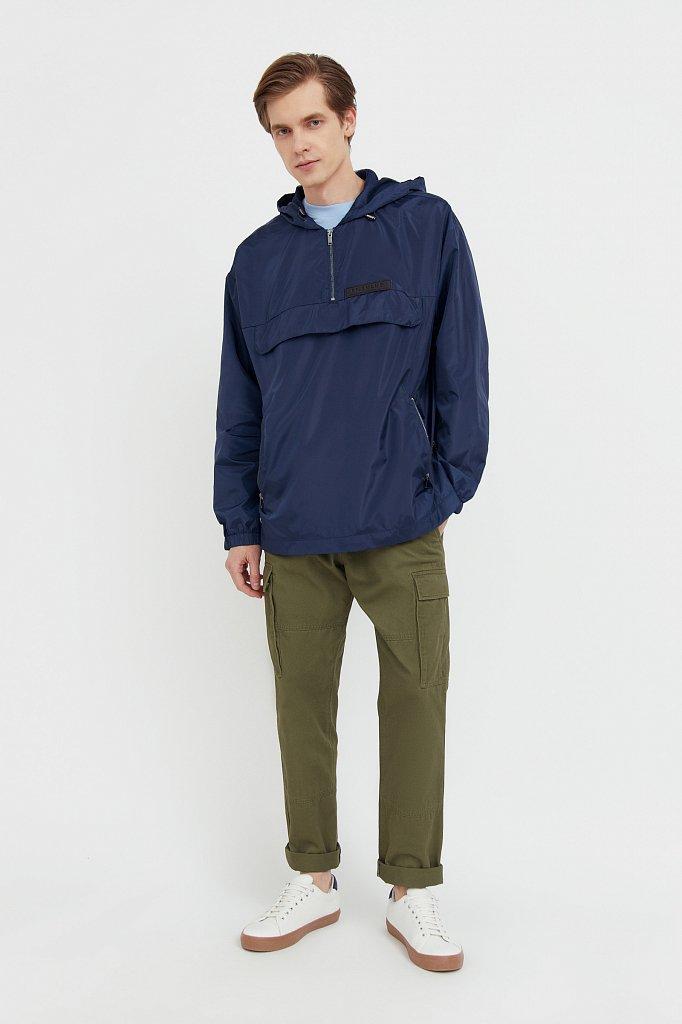 Непромокаемый анорак с капюшоном, Модель B21-42008, Фото №3