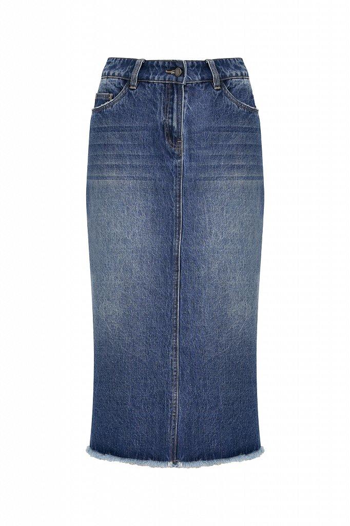 Юбка джинсовая женская, Модель B21-15009, Фото №6