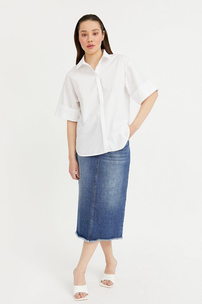 Юбка джинсовая женская, Модель B21-15009, Фото №1