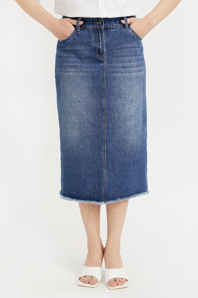 Юбка джинсовая женская, Модель B21-15009, Фото №2