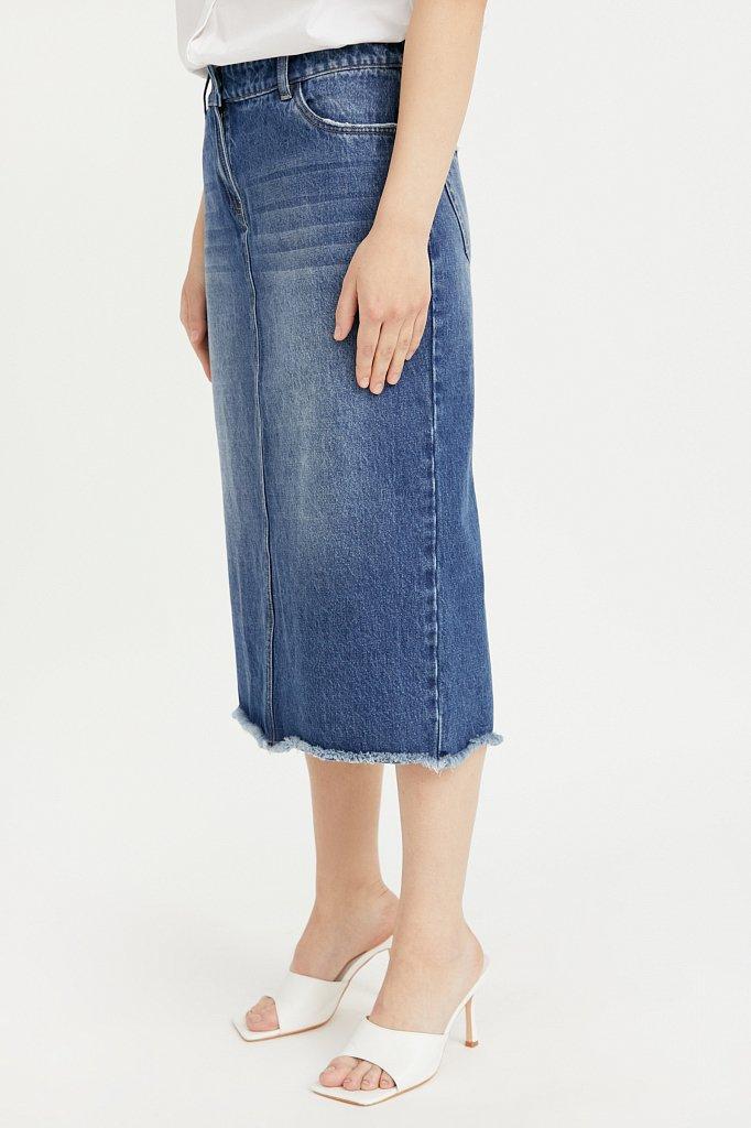 Юбка джинсовая женская, Модель B21-15009, Фото №3