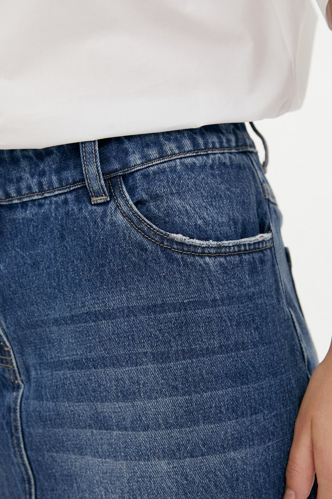 Юбка джинсовая женская, Модель B21-15009, Фото №5