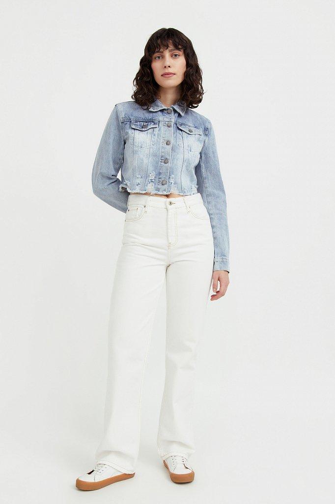 Укороченная джинсовая куртка, Модель B21-15026, Фото №2