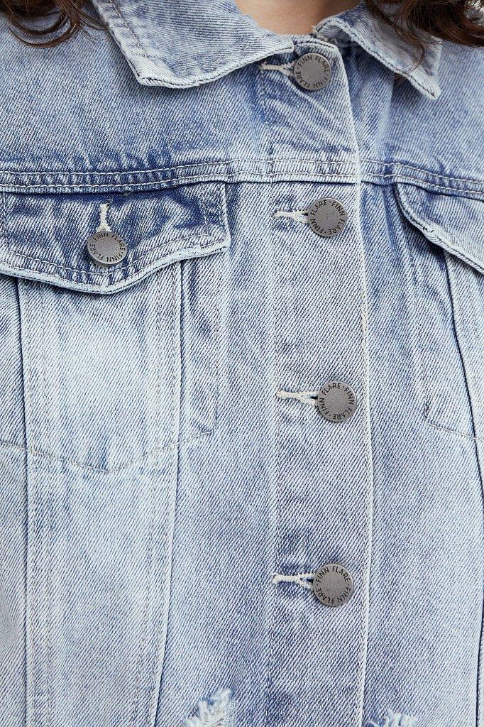 Укороченная джинсовая куртка, Модель B21-15026, Фото №5