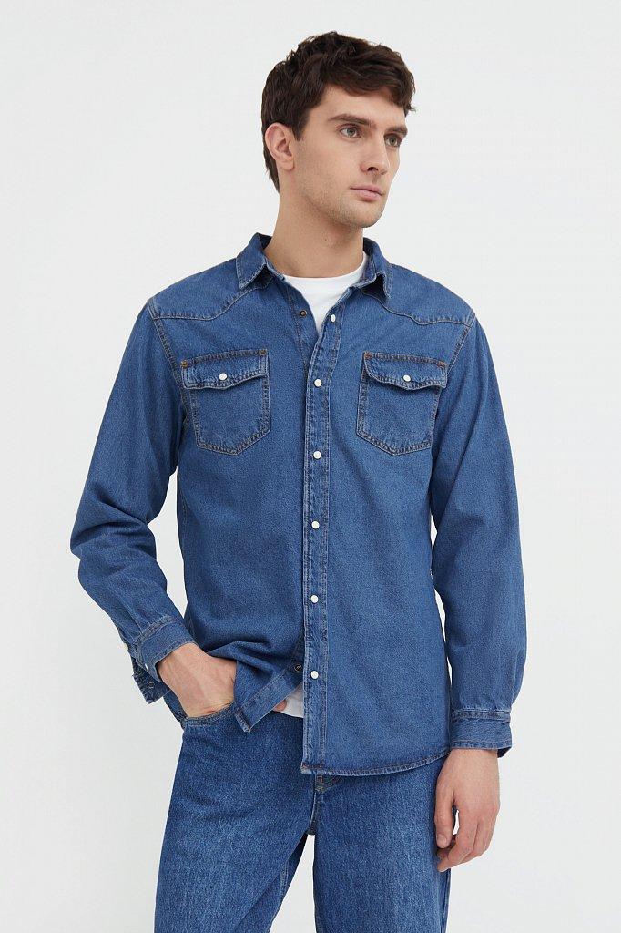 Рубашка мужская, Модель B21-25022, Фото №1