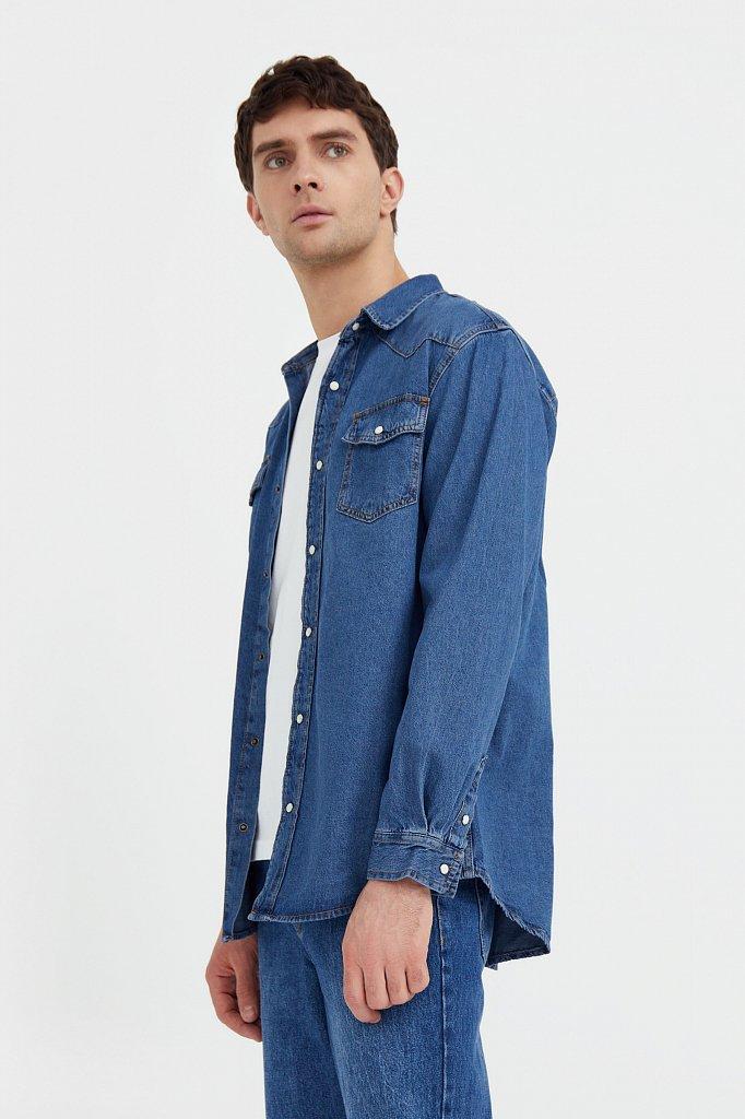 Рубашка мужская, Модель B21-25022, Фото №3