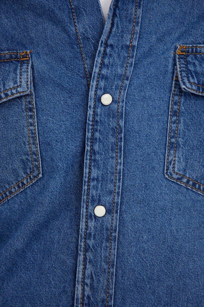 Рубашка мужская, Модель B21-25022, Фото №5