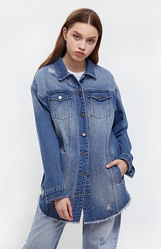 Куртка-рубашка из денима Finn-Flare B21-15002