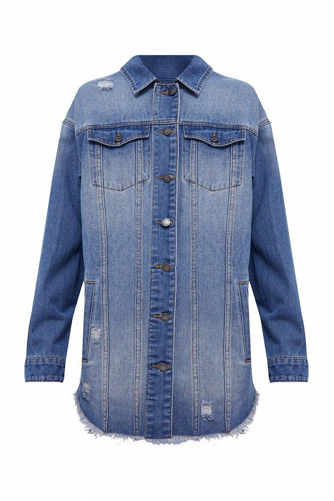 Куртка-рубашка из денима, Модель B21-15002, Фото №7