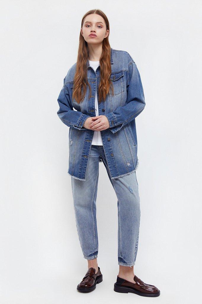 Куртка-рубашка из денима, Модель B21-15002, Фото №2