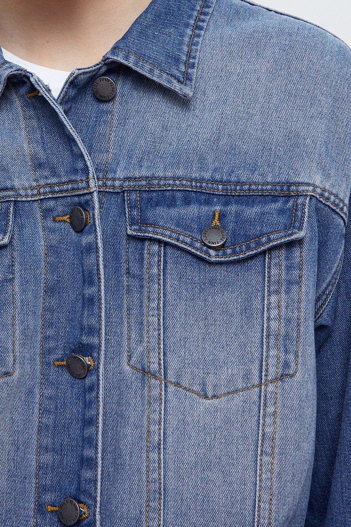 Куртка-рубашка из денима, Модель B21-15002, Фото №5