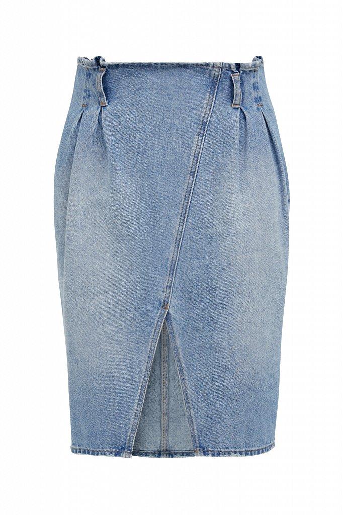 Юбка джинсовая женская, Модель B21-15008, Фото №6