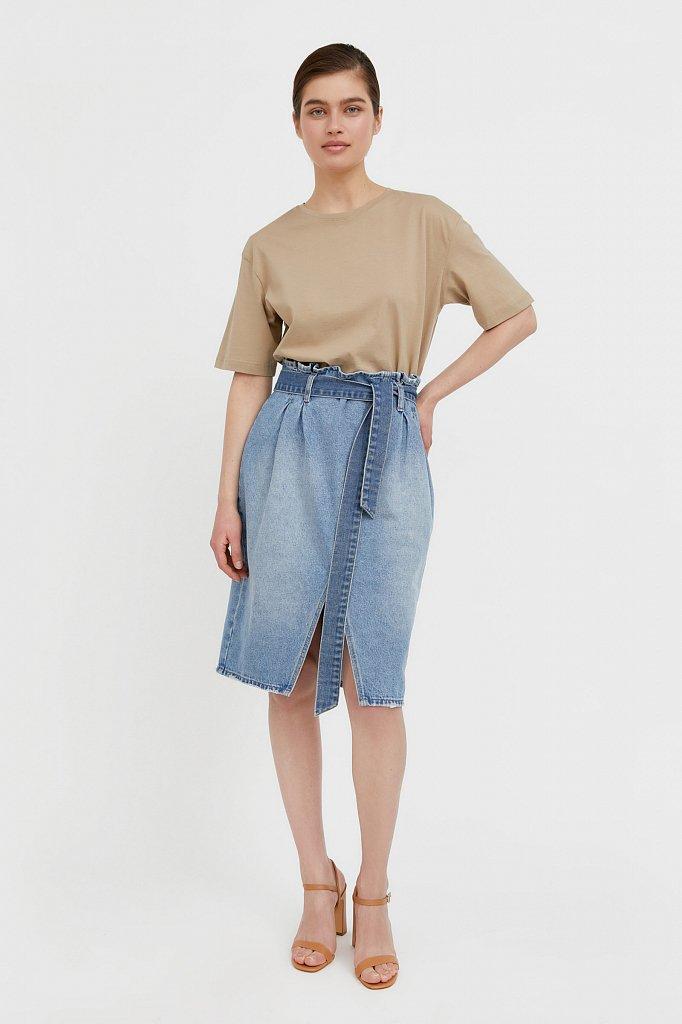 Юбка джинсовая женская, Модель B21-15008, Фото №1