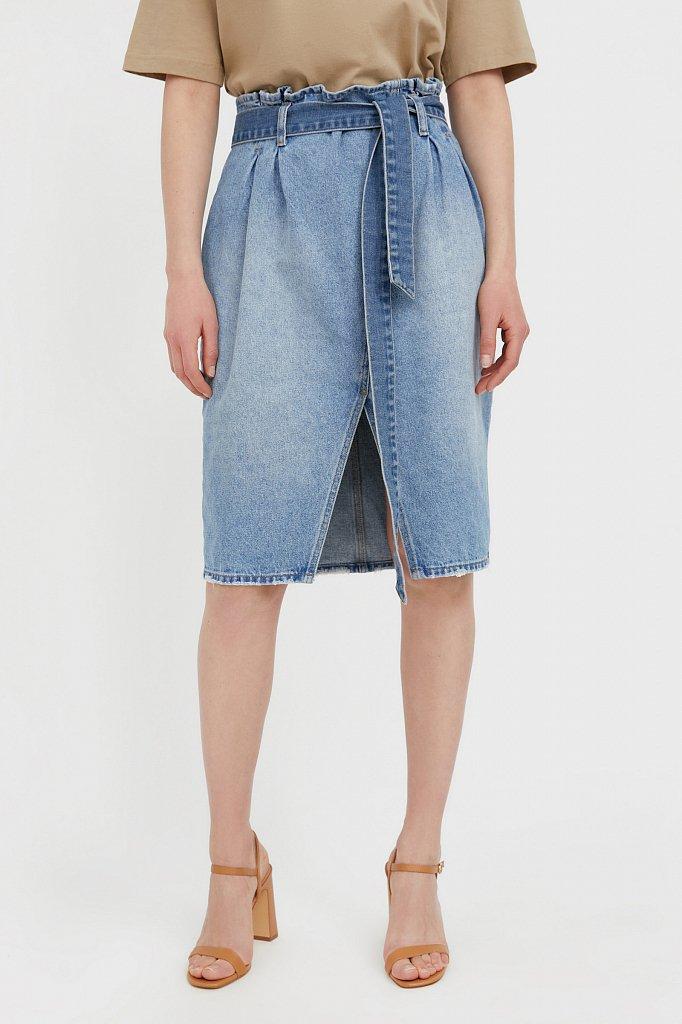 Юбка джинсовая женская, Модель B21-15008, Фото №2