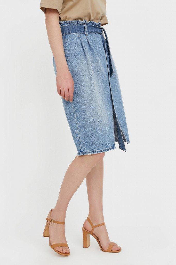 Юбка джинсовая женская, Модель B21-15008, Фото №3