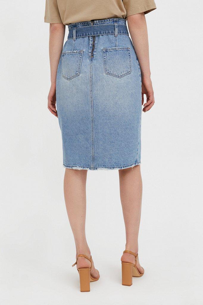 Юбка джинсовая женская, Модель B21-15008, Фото №4
