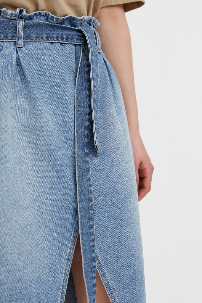Юбка джинсовая женская, Модель B21-15008, Фото №5