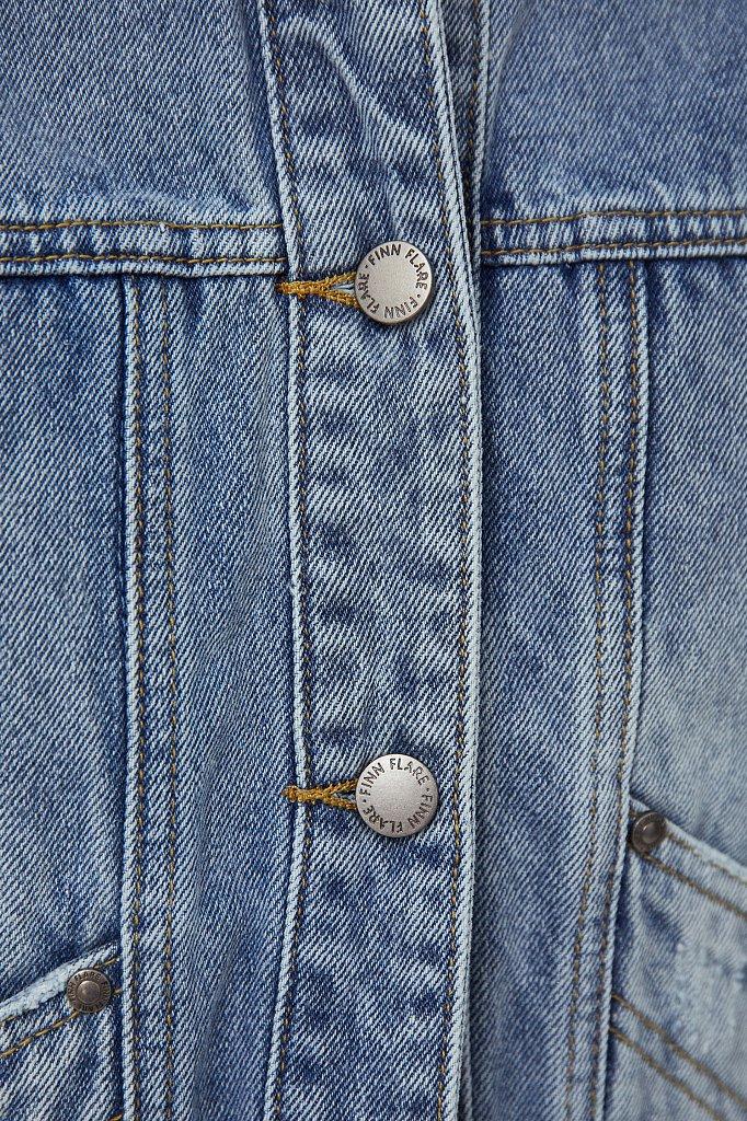 Укороченная джинсовая куртка, Модель B21-15017, Фото №5