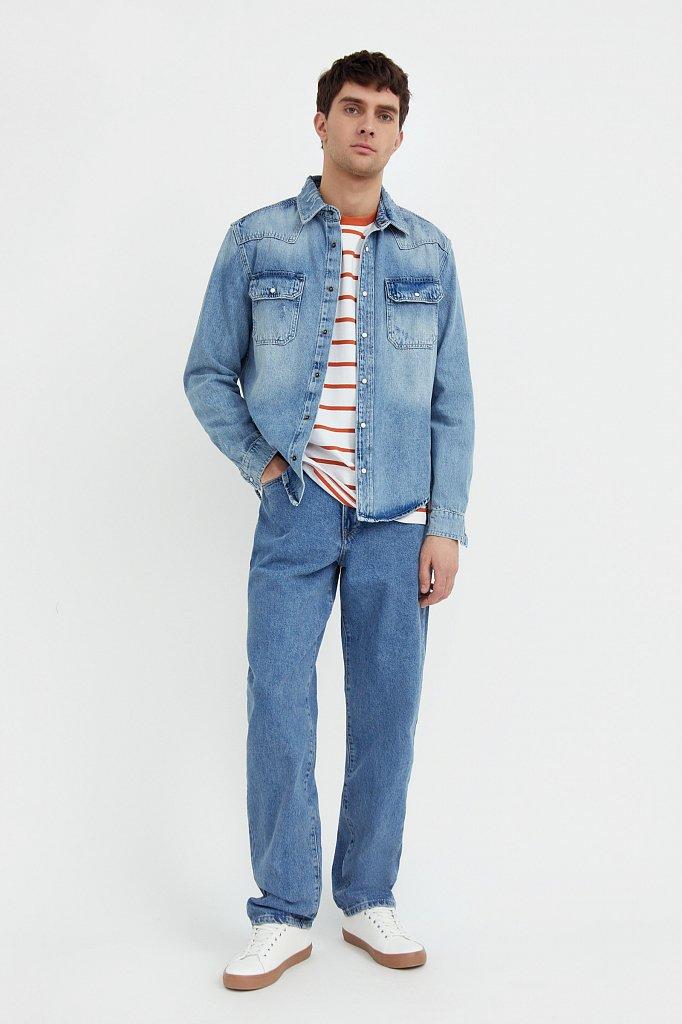 Куртка-рубашка из денима, Модель B21-25019, Фото №2