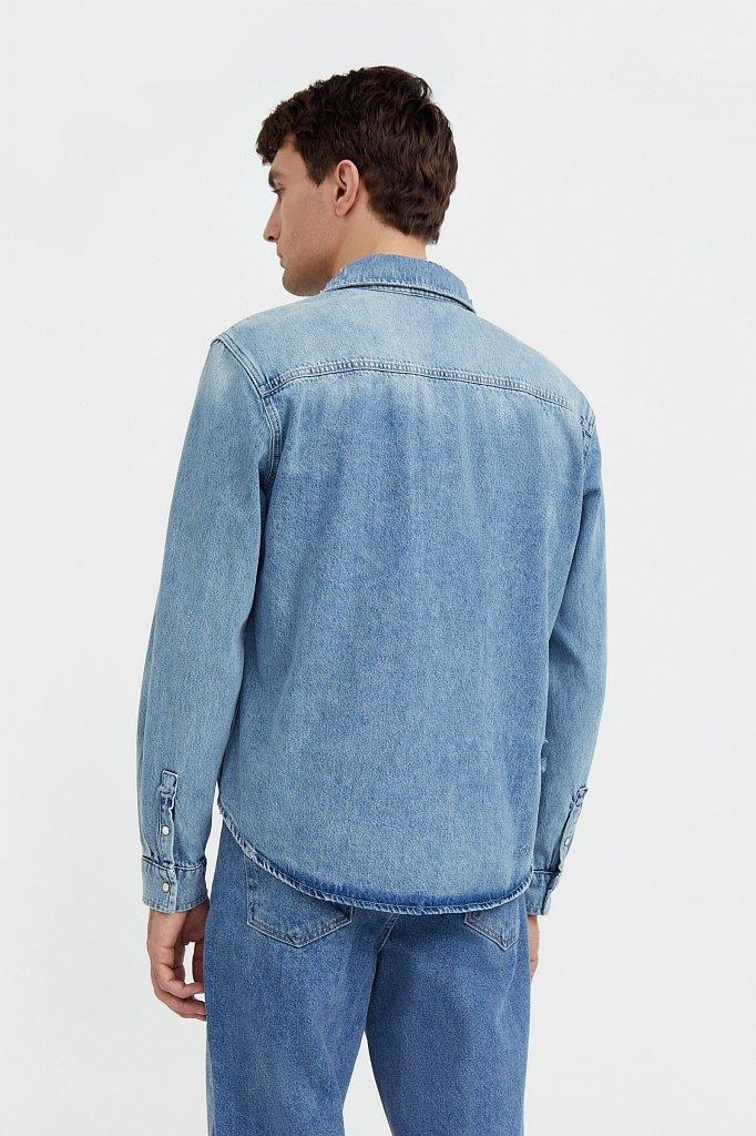 Куртка-рубашка из денима, Модель B21-25019, Фото №4
