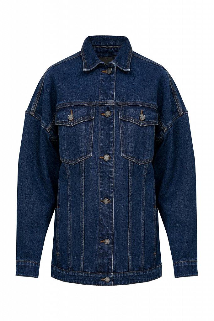Базовая джинсовая куртка, Модель B21-15000, Фото №7