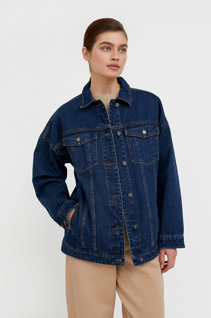 Базовая джинсовая куртка, Модель B21-15000, Фото №1