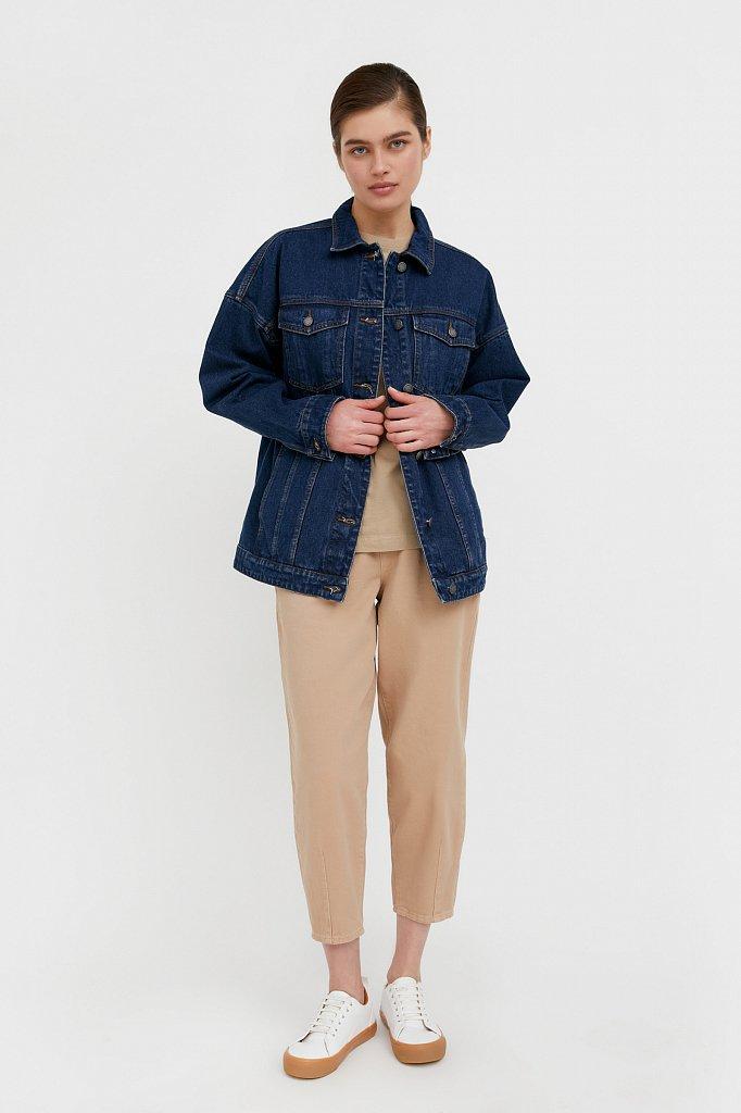 Базовая джинсовая куртка, Модель B21-15000, Фото №2