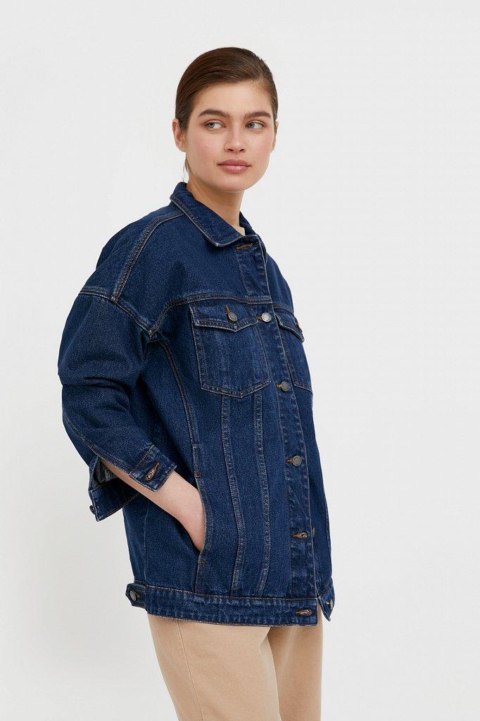 Базовая джинсовая куртка, Модель B21-15000, Фото №3