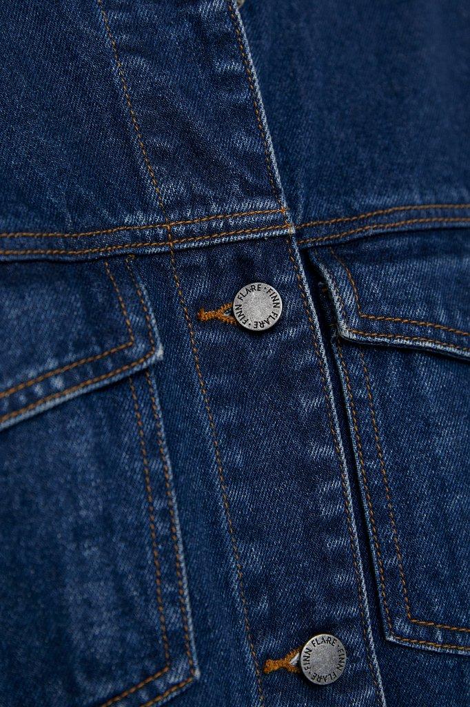 Базовая джинсовая куртка, Модель B21-15000, Фото №5