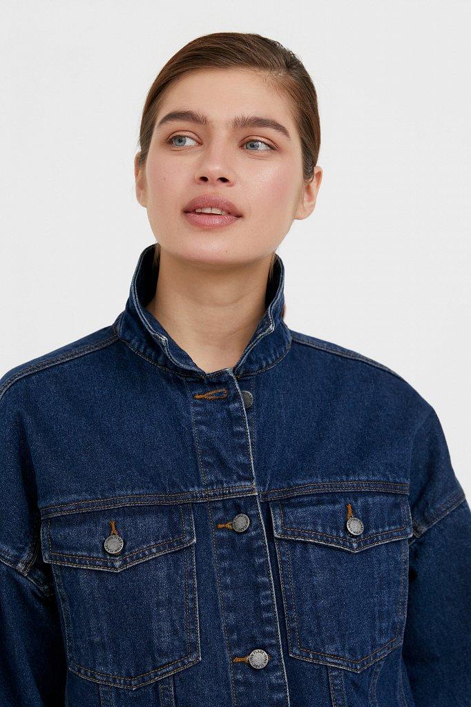 Базовая джинсовая куртка, Модель B21-15000, Фото №6