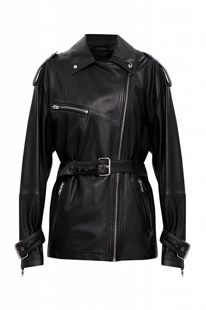 Куртка кожаная женская, Модель B21-11802, Фото №7