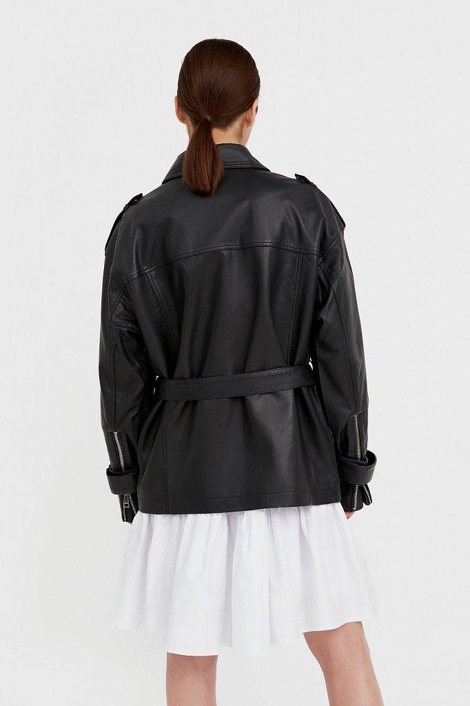 Куртка кожаная женская, Модель B21-11802, Фото №4