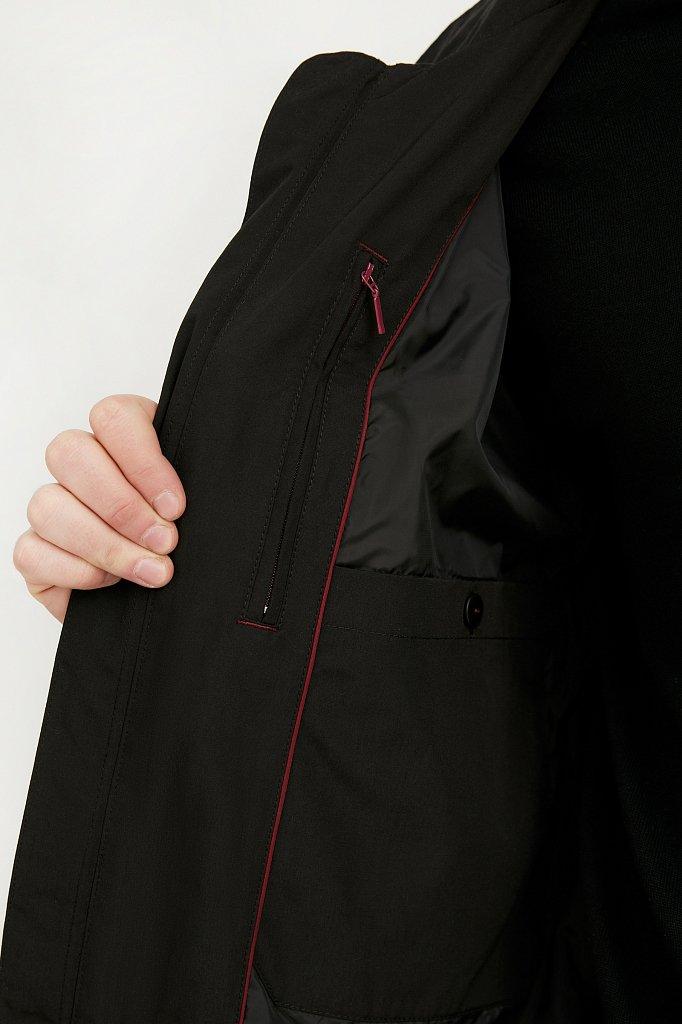 Ветровка из смесовой ткани с защитой от влаги, Модель B21-21011, Фото №5