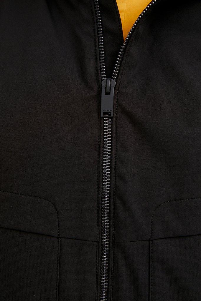 Непромокаемая ветровка с капюшоном, Модель B21-21012, Фото №6