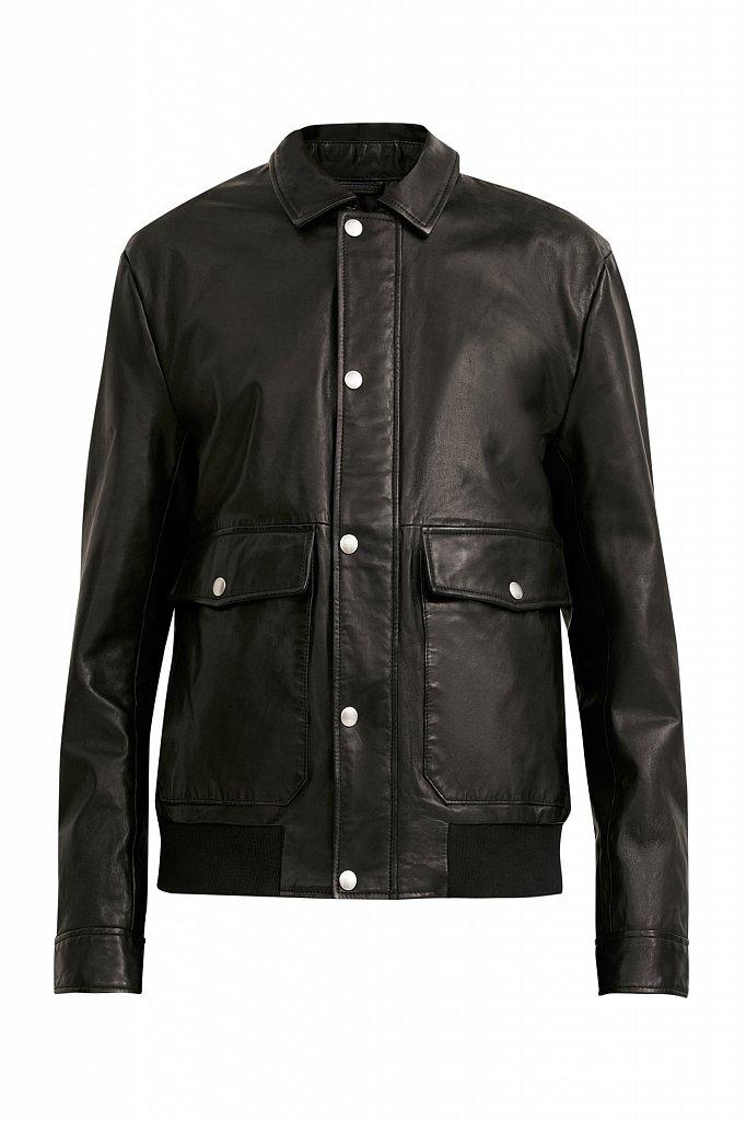 Куртка кожаная мужская, Модель B21-21801, Фото №7