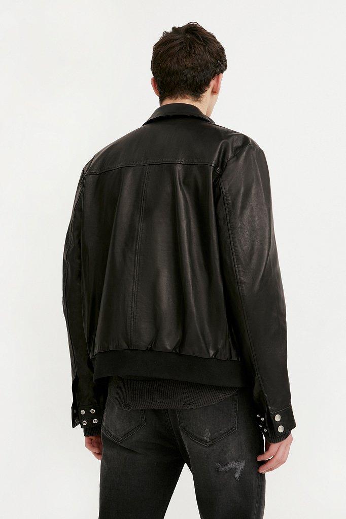 Куртка кожаная мужская, Модель B21-21801, Фото №4
