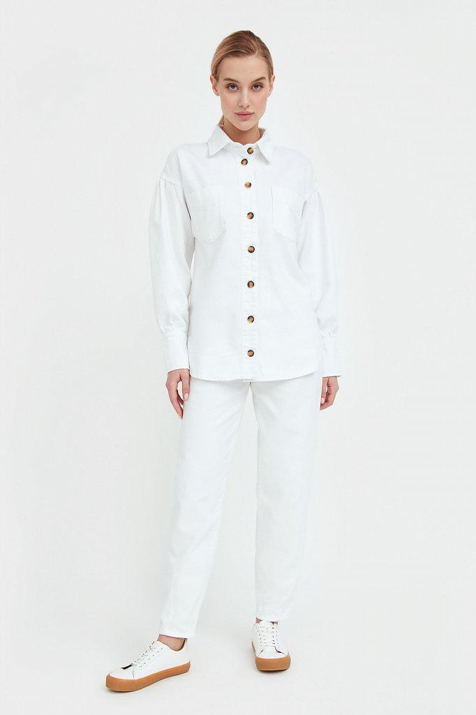 Блузка джинсовая женская, Модель B21-15031, Фото №1