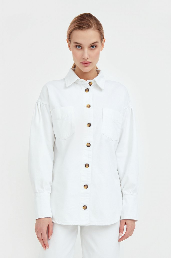 Блузка джинсовая женская, Модель B21-15031, Фото №2