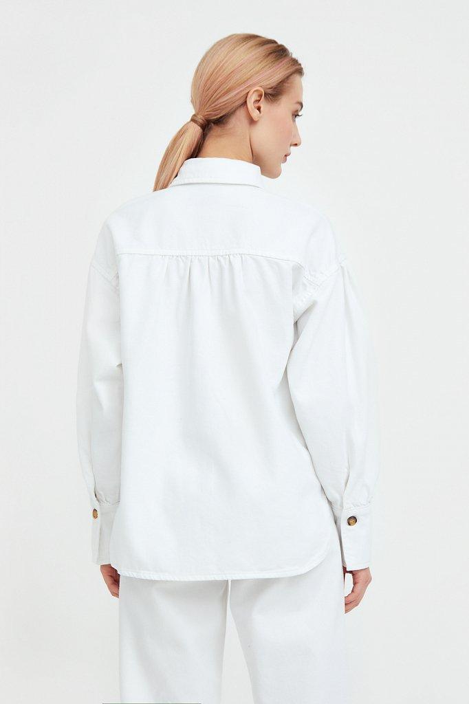 Блузка джинсовая женская, Модель B21-15031, Фото №4