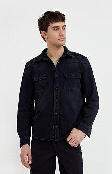Куртка-рубашка из денима B21-25019